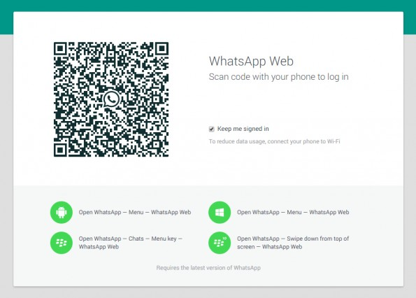 WhatsApp Web: Offizielle Version im Browser gestartet. (Screenshot: WhatsApp Web)