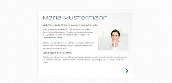 wordpress html theme template vcard webvisitenkarte