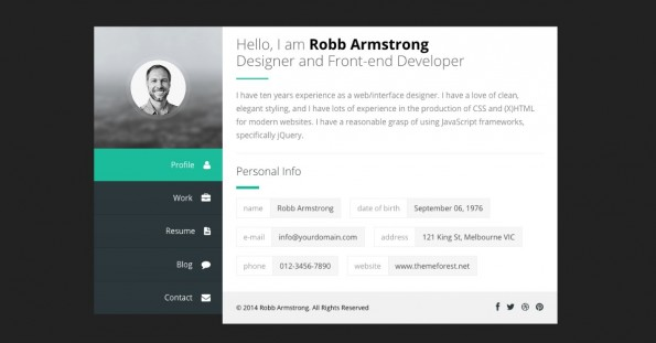 wordpress theme template vcard webvisistenkarte