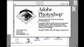 25 Jahre Photoshop: Hier bearbeitet Erfinder John Knoll ein Porträt mit der ersten Version