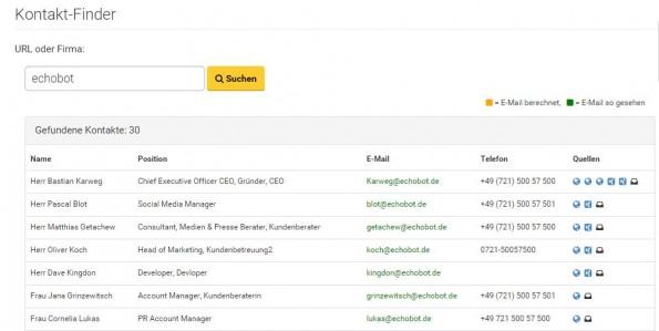 Echobot_smart-data-Sales_Kontakt-Finder