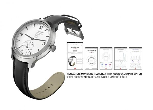Die Mondaine Helvetica No.1 Horological Smartwatch ist eine der ersten Smartwatches eines Schweizer Traditionsherstellers. (Foto: Mondaine)