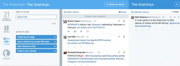 Sobald ein Projekt angelegt ist, können Tweets in Curator detailliert gefiltert werden. (Screenshot: TheNextWeb)