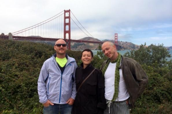 YogaTrail-Gründer in San Francisco: Sven Ernst, Alexandra Jaton und Alex Klein (v.l.). (Bild: YogaTrail)