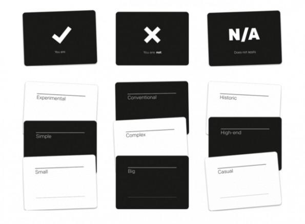 Brand Deck soll helfen Begriffe, die die Markenidentität definieren, auszuwählen. (Screenshot: Kickstarter)