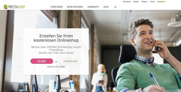 (Screenshot: Prestashop)