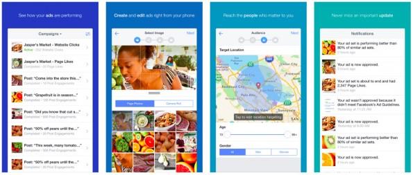Facebook: Mit der Ads-Manager-App könnt ihr auch unterwegs Anzeigen erstellen und verwalten. (Screenshot: iTunes)