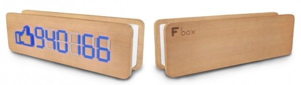 Fbox: Schicker Facebook-Fan-Counter aus kanadischem Zedernholz. (Foto: Fbox)