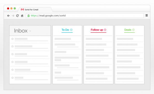 Sortd macht aus deinem Gmail-Postfach eine intelligente ToDo-Liste. (Screenshot: t3n)