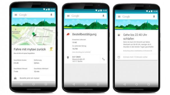 Google Now: Neue Karten sollen jetzt auch Informationen von Drittanbieter-Apps anzeigen. (Grafik: Google)