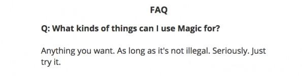 Keine Begrenzungen: Magic liefert so gut wie alles. (Screenshot: getmagicnow.com)