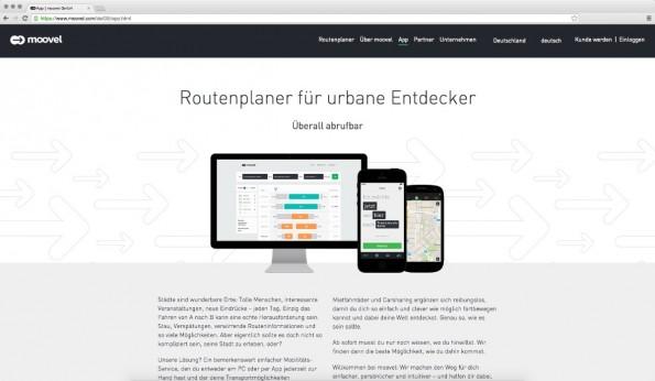 Anbieter wie Daimlers Moovel wollen nicht nur Ridesharing-Dienste, sondern Vermittlungsplattformen sein. (Screenshot: Moovel.com)