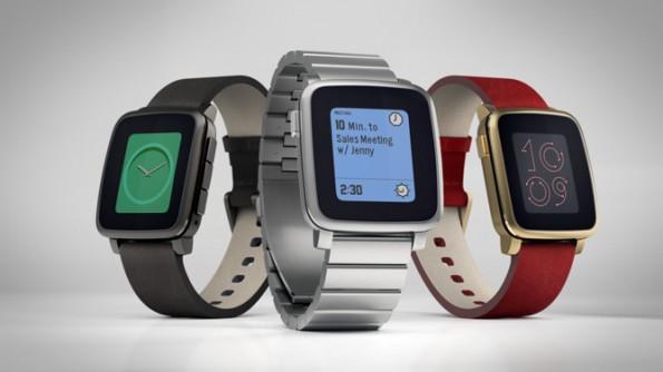 Pebble Time Steel: Die Smartwatch kommt jetzt auch im edlen Metallgehäuse. (Foto: Pebble)