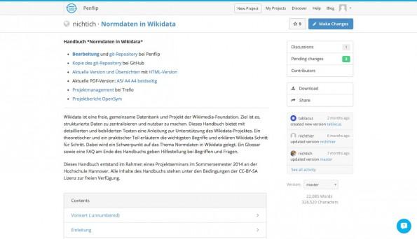 Remote-Worker: Mit Penflip arbeitet ihr gemeinsam an Texten. (Screenshot: Penflip)