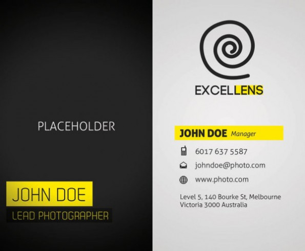 sophisticated business card template psd - Visitenkarten