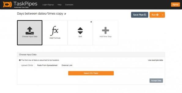 TaskPipes soll die Arbeit mit Tabellen erleichtern. (Screenshot: TaskPipes)