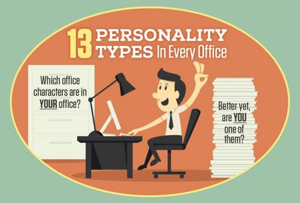 """13 Persönlichkeiten, die man zum Chef sein kennen sollte. (Grafik: <a href=""""http://www.pens.com/blog/13-office-personality-types-infographic/"""">National Pen</a>)"""
