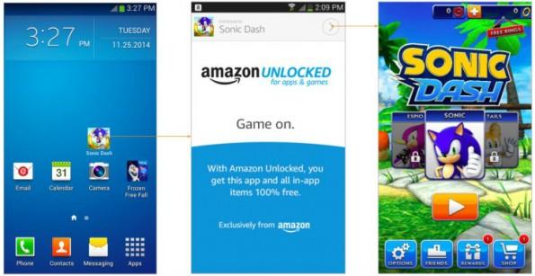 So könnte Unlocked laut der Präsentation von Amazon künftig aussehen. (Screenshot: TechCrunch)