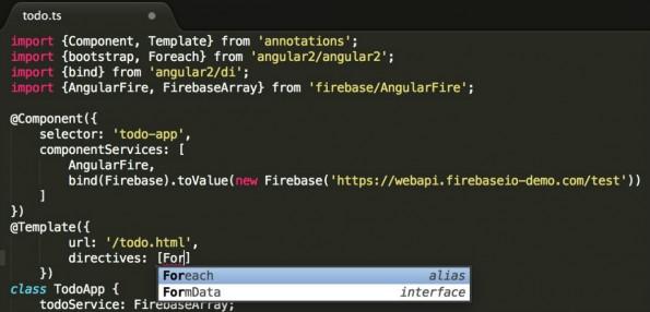 Typescript wird zur Codebasis für AngularJS 2.0. (Screenshot: Microsoft)