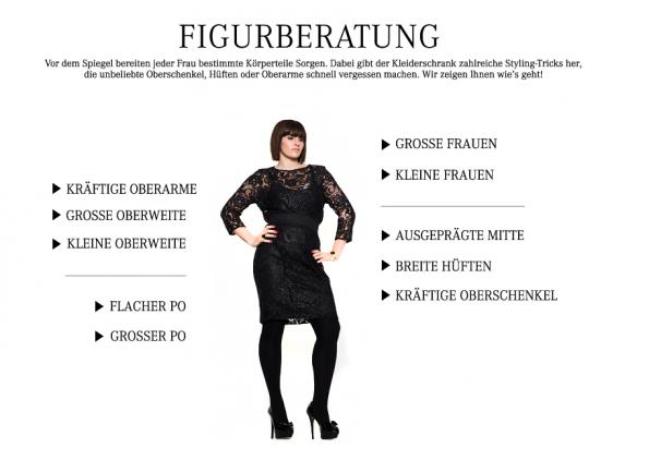 Für Damen ab Größe 42 gibt es auf navabi nicht nur Mode zu kaufen, sondern auch hilfreiche Beratung (Screenshot: navabi.de)