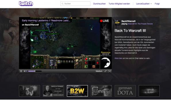 Live-Streaming auf Twitch: Top-Streamer sind mittlerweile hauptberuflich auf der Plattform unterwegs. (Foto: Twitch)