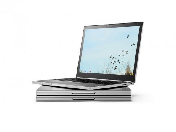 Das neue Chromebook Pixel ist äußerlich kaum von der ersten Version aus dem Jahr 2013 zu unterscheiden. (Foto: Google)