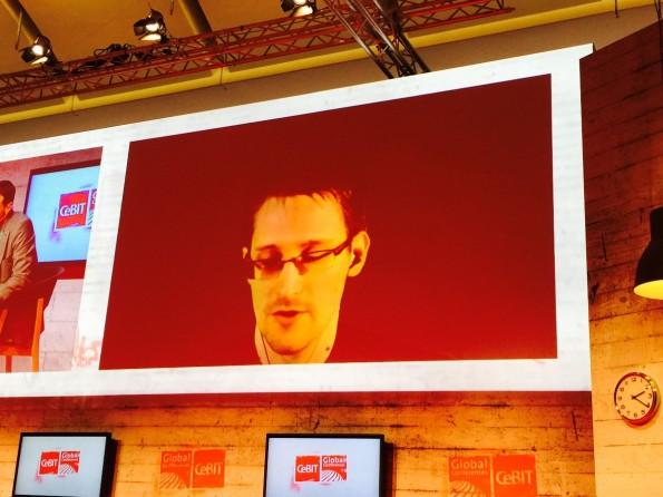 Edward Snowdens Auftritt auf den Global Conferences (Foto: Luca Caracciolo)