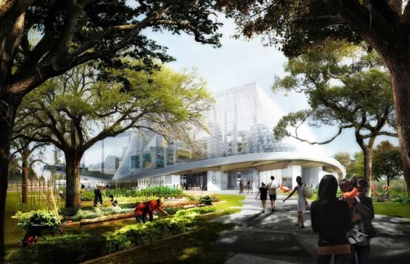 Viel Grün, viel Glas: So soll das neue Hauptquartier von Google aussehen. (Foto: Google)