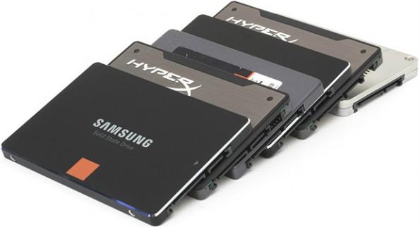 Diese Laufwerke stellten sich dem SSD-Langzeittest. (Foto: Techreport.com)