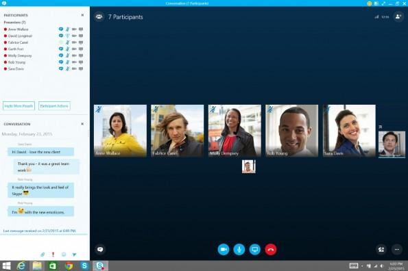 Skype for Business ersetzt zukünftig Lync. (Screenshot: Microsoft)