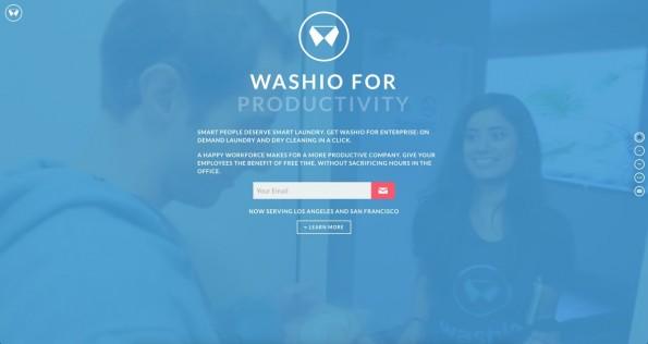 Sorgen Apps wie Washio für mehr Produktivität? Oder für mehr Faulheit? (Screenshot: getwashio.com)
