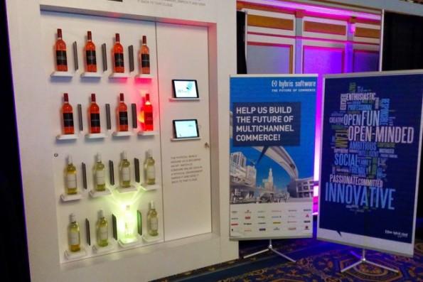 """""""Eine Art physikalische Selektion der Produkte kann man mit IOT auch im Verkaufsraum machen, wie wir mit unserem Smart Wine Shelf schon gezeigt haben."""" (Screenshot: hybris.com)"""