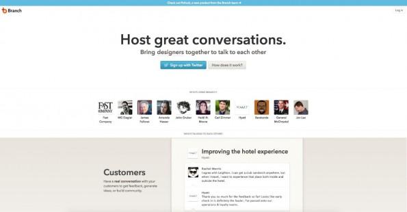 Vom Startup Branch als Designer zu Facebook? Ein großer Schritt. (Screenshot: Branch)