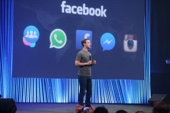 Facebook-Gründer Mark Zuckerberg auf der Entwicklerkonferenz f8 in San Francisco. (Foto:: Facebook)
