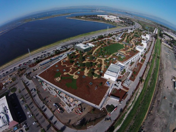 Facebook: So sieht das neue Hauptquartier von oben aus. (Foto: Facebook)