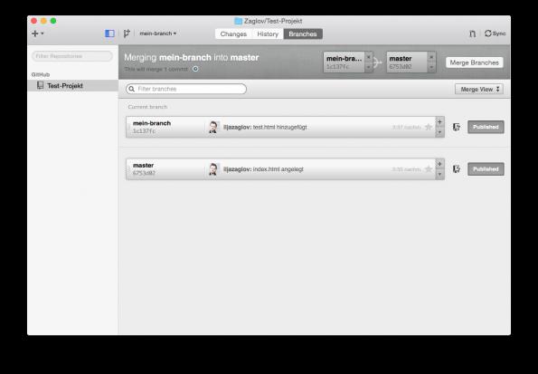 GitHub Merging