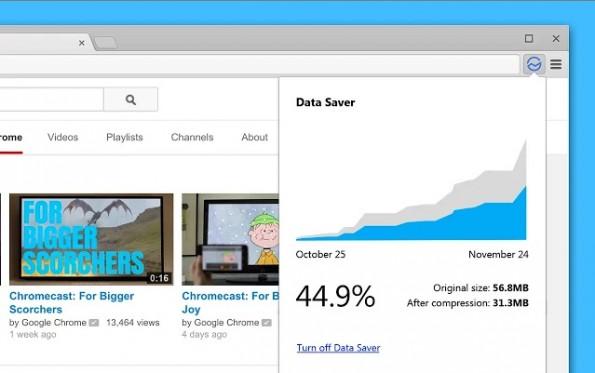 Google: Datenkomprimierung gibt es jetzt auch über eine Chrome-Erweiterung auf dem Desktop. (Screenshot: Chrome-Web-Store)