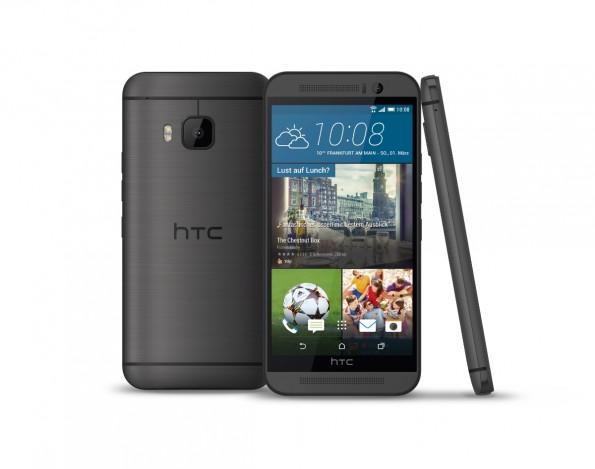 """Das HTC One M9 gibt es in drei Farben, unter anderem in """"Metal Grey"""". (Bild: HTC)"""