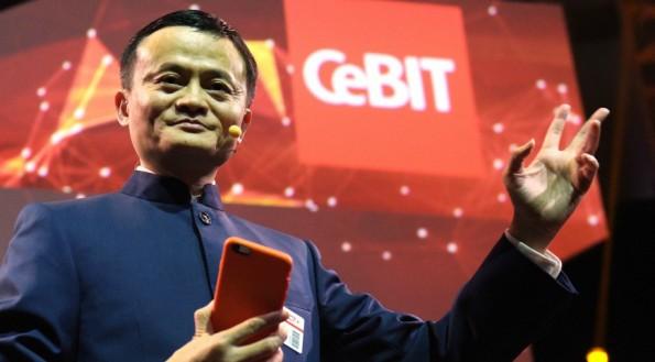 Alibaba-CEO Jack Ma präsentierte auf der CeBIT 2015 das Bezahl-Feature Smile To Pay. (Foto: cebit.de)