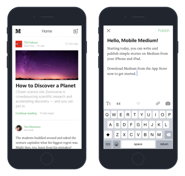 Journalisten, Blogger und Hobbyautoren können mit Medium jetzt auch unterwegs eigene Geschichten veröffentlichen. (Foto: Medium)