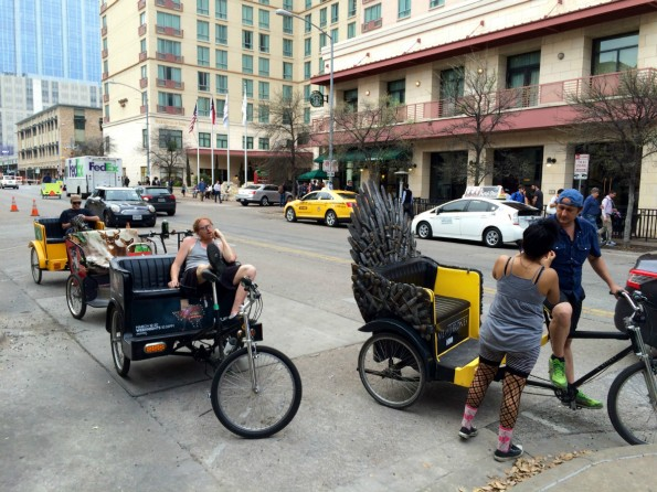 Rikschas stehlen Uber auf der SXSW in Austin die Show. (Foto: t3n)