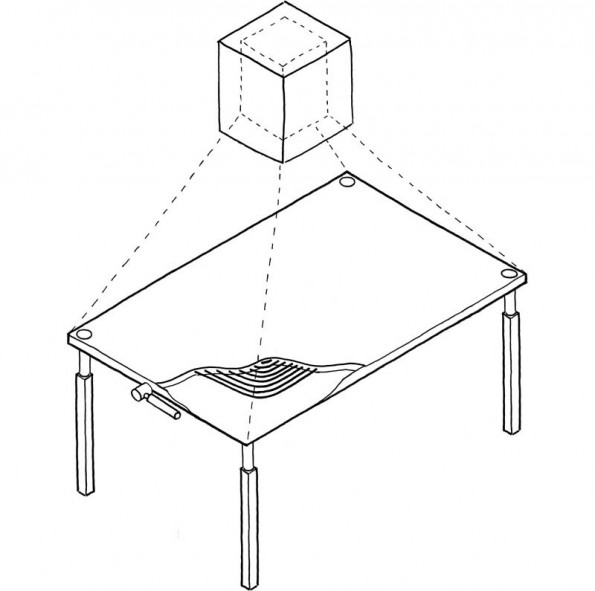 IKEA Küche Der Zukunft: Tisch Als Induktionsherd Und Intelligente  Arbeitsplatte Mit Projektor. (