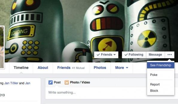Versteckte Facebook-Funktionen: Gemeinsamkeiten. (Screenshot: Andreas Weck)