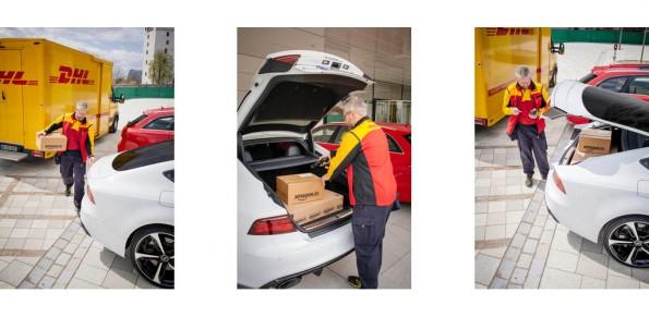 Pilotprojekt: DHL soll Pakete direkt in den Kofferraum von Amazon-Prime-Kunden liefern. (Grafik: Amazon)