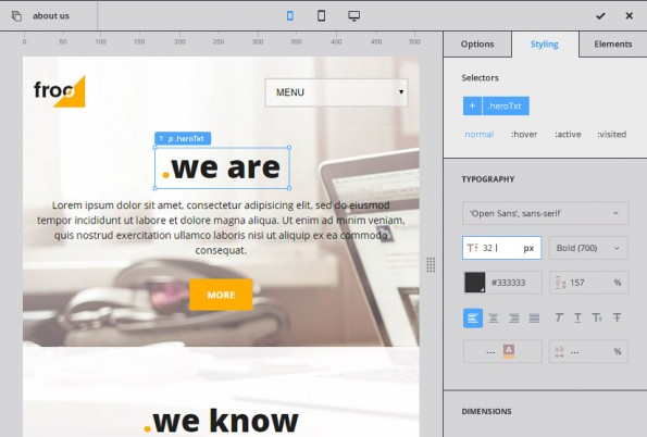 CloudPress ist ein Baukastensystem zur Erstellung von WordPress-Themes. (Screenshot: CloudPress)
