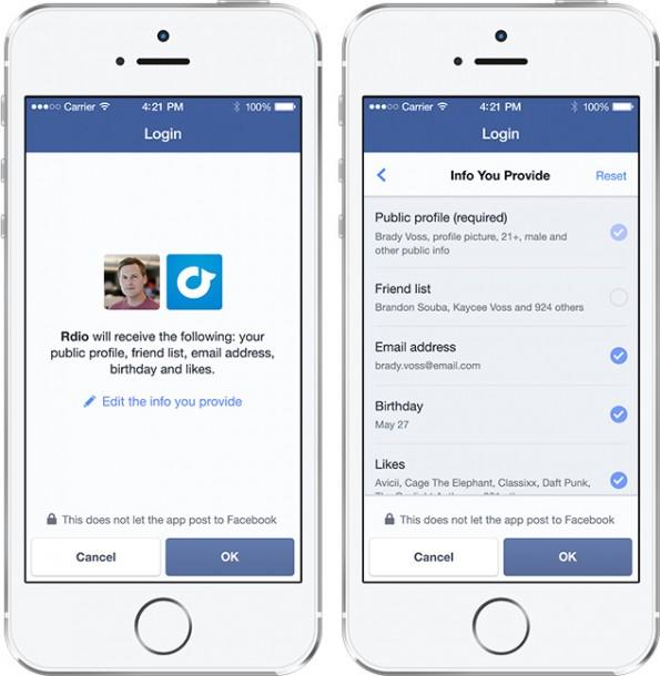 Facebook: Neben der Graph-API 2.0 wird auch das neue Login zur Pflicht. (Grafik: Facebook)