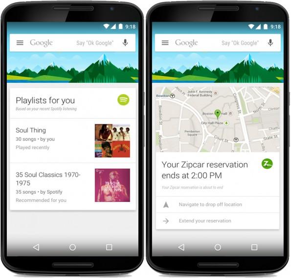 Google Now unterstützt jetzt Karten von 70 weiteren Apps. (Grafik: Google)