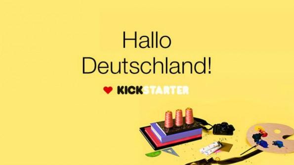 Hallo Deutschland! Kickstarter verkündete den Launch auf Facebook. (Bild: Kickstarter)