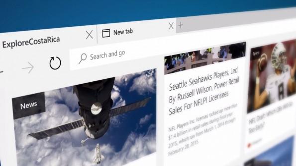 """Eine weitere Maßnahme: Erweiterungen für Microsofts zuküftigem Browser """"Edge""""  können sehr leicht von Firefox oder Chrome portiert werden. (Quelle: Microsoft)"""