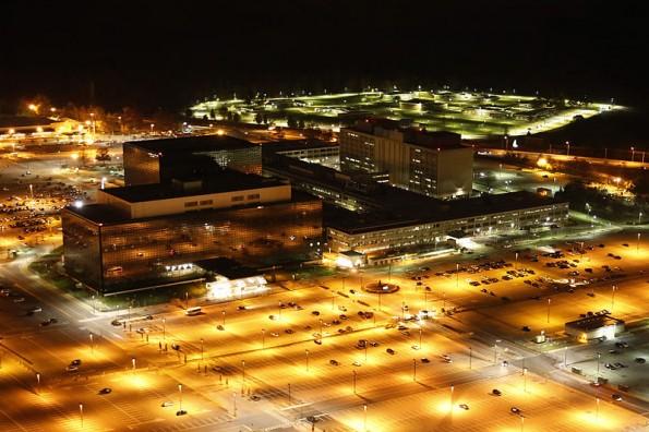Selbst nachts nicht schön: Das NSA-Hauptquartier in Fort Meade, Maryland.
